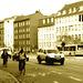 Blurry yellow danish bus scenery - Copenhagen  / October 20th 2008.