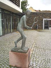 Sculpture d'un joueur de tennis / Tennisman sculpture