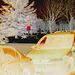 Fringues window reflection  -  Réflexions fringues  /  Dans ma ville - Hometown.  3 février 2009- Le reflet en gros et photofiltré en négatif