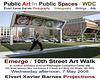 PublicArtPublicSpaces.Emerge.ArtWalk.10thStreet.NW.WDC.7may08