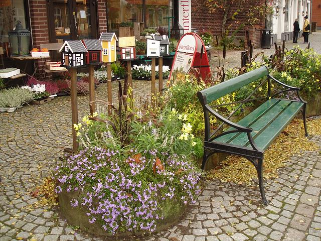 Scène de trottoir fleuri interfloré / Interflore store scenery