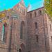 Helsingborg's church / L'église de Helsingborg  -  Suède / Sweden.  22 octobre 2008 -  Ciel bleu photofiltré