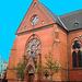 Helsingborg's church / L'église de Helsingborg  - Suède / Sweden / Photofiltered blue sky Ciel bleu photofiltré
