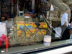 bike on yellow ground