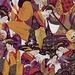 Textile Art - Paisley Geisha, Japon