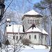 Tour St-Benoit de l'abbaye du même nom -  Région des cantons de l'est au Québec..   Février 2009