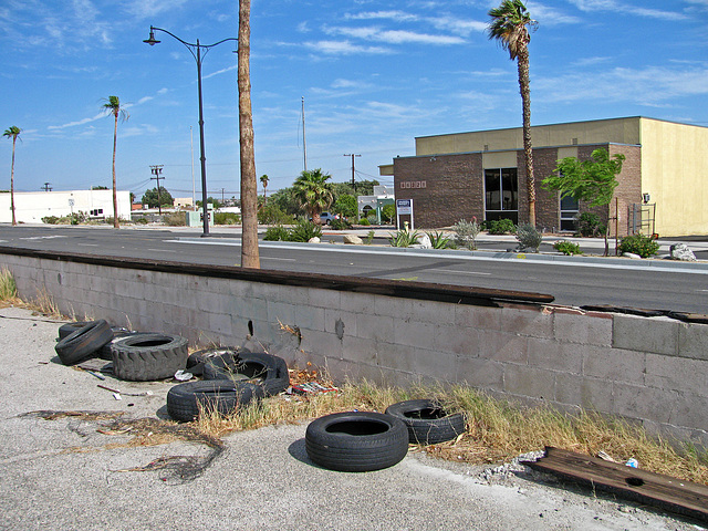 Tires Dumped Across From 66321 Pierson Blvd - Between 66292 and 66338 Pierson Blvd