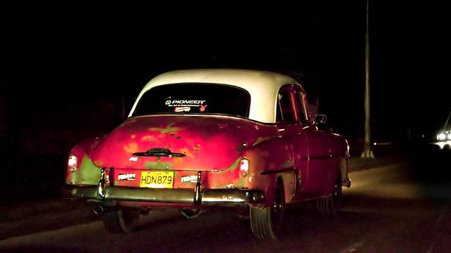 Night Cars Cuba Habana