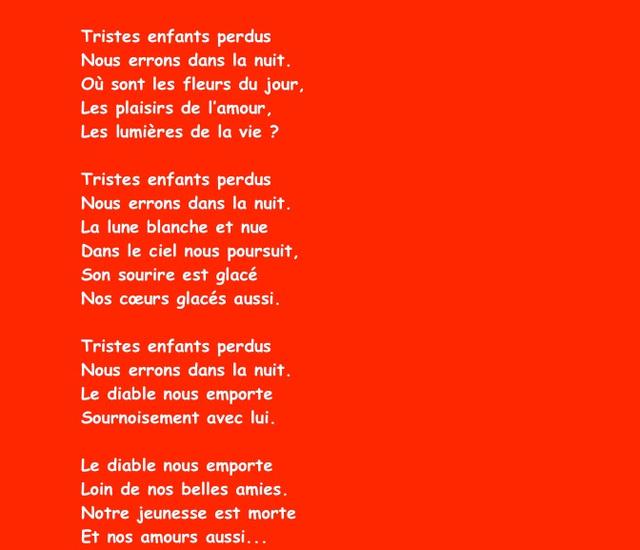 La Complainte de Gilles, de Jacques Prévert