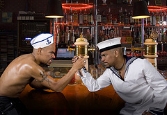 The Popeye-Twins Arm Wrestling