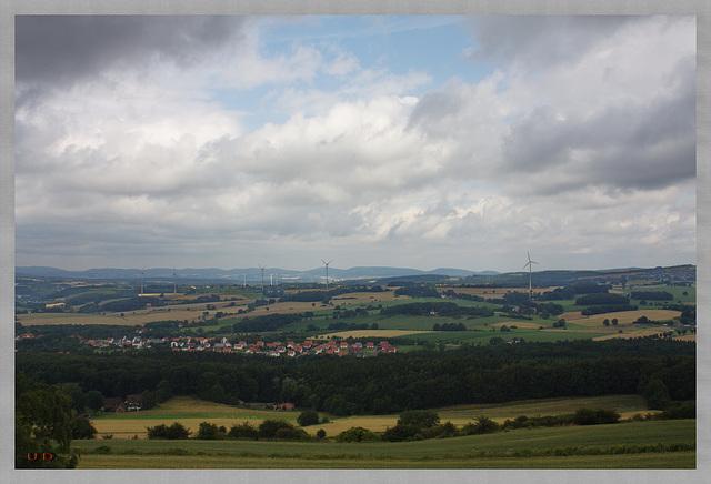 Blick über Bösigsfeld zur Porta Westfalica