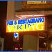 Pub & restaurang Viking  /   Helsingborg - Suède / Sweden.  22 octobre 2008-  Touche de bleu nuit