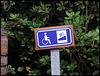 Steigung nur mit Rollstuhl erlaubt