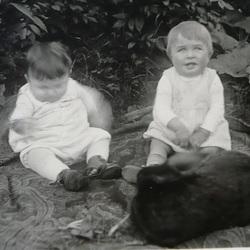 1932 - mit meinem Cousin Hans Josef