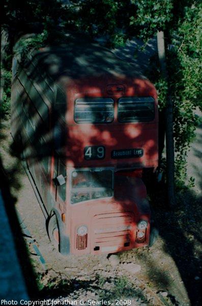 Old Leyland Double Decker Bus, Picture 2, Holesovice, Prague, CZ, 2008
