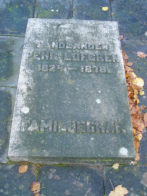 Laholms kirka ( Church & cemetery) - Église et cimetière /   Laholm -  Sweden / Suède.  25 octobre 2008  - Familjegraf