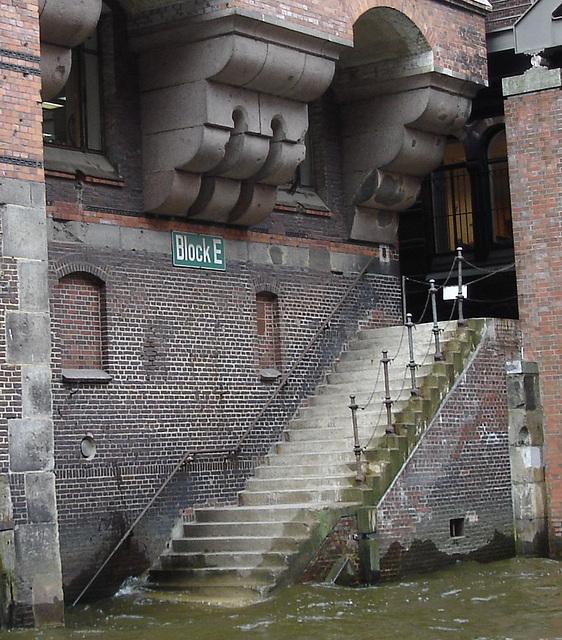 Treppe in der Speicherstadt