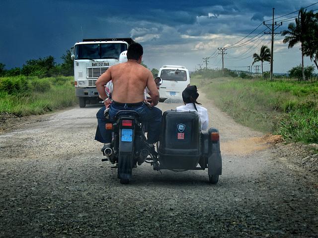 On the roads of Cuba........