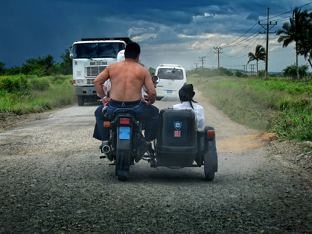 On the roads of Cuba........