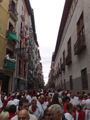 Pamplona: calle Mayor el 7 de julio