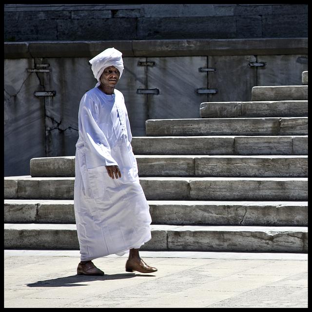 white turban........