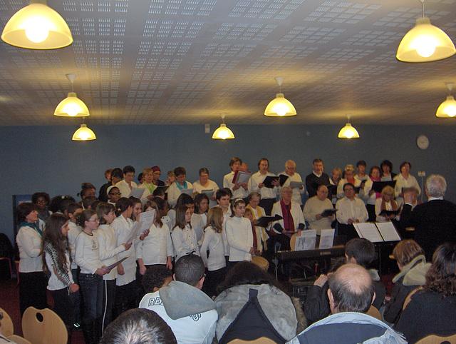 Concert Ancoeur-Couperin au collège de Savigny le Temple le 12/02/09
