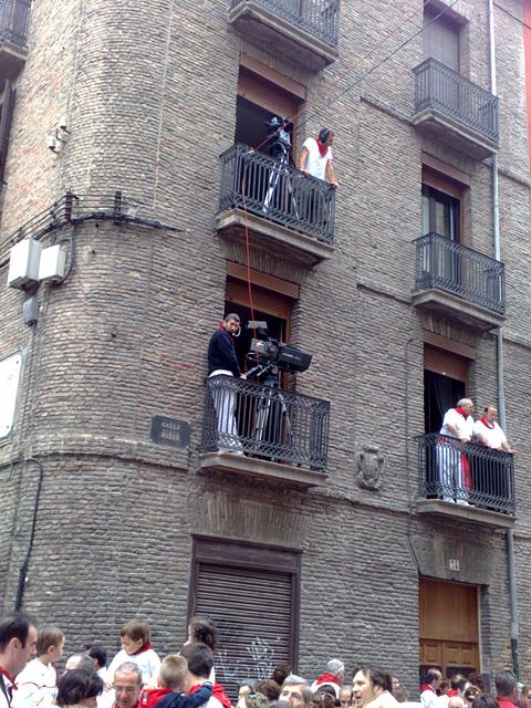 Balcones para las cámaras.