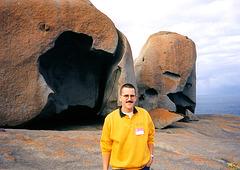 1997-07-23 071 Aŭstralio, Kangaroo Island, Remarkable Rocks