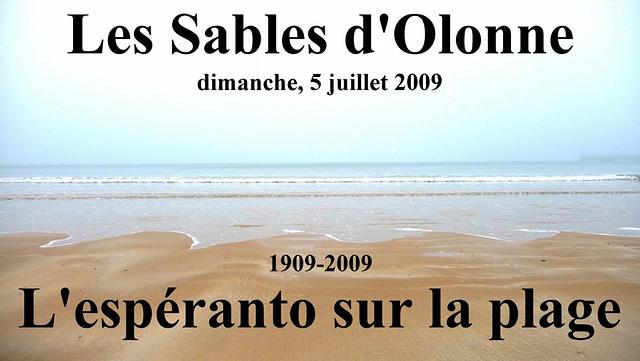 Les Sables 2009 — L'espéranto sur la plage