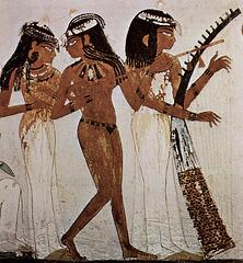 Danseuse et joueuse de harpe - Sépulture de Nakht