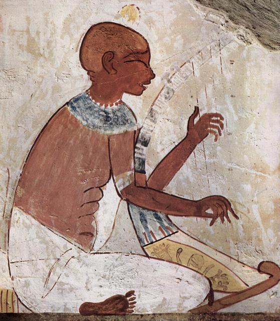 Aveugle jouant de la harpe - Sépulture de Nakht