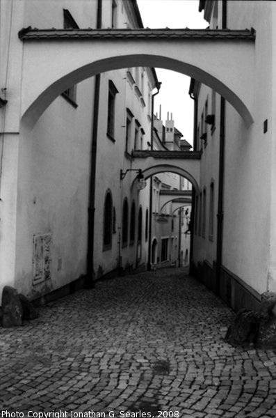 Alley in Olomouc, Moravia (CZ), 2008