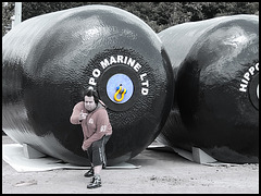 "Yoh! Hippo in front of ""Hippo Marine Ltd."""