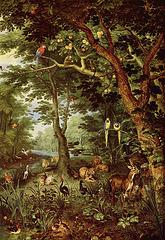 Le Paradis, œuvre de Jan Bruegel