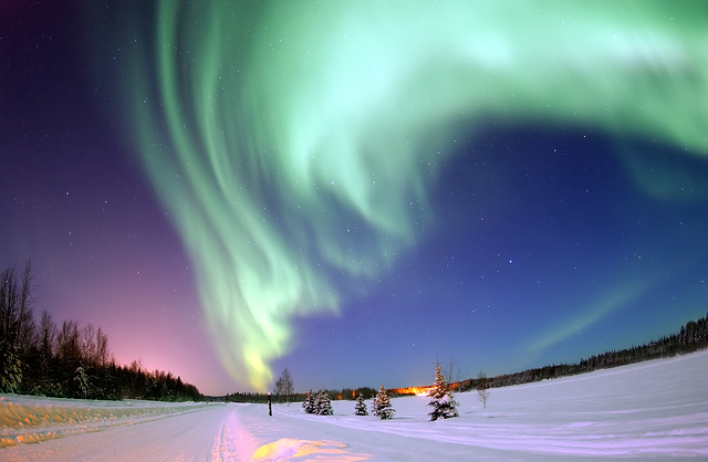 Une aurore boréale - Nothern lights in Alaska
