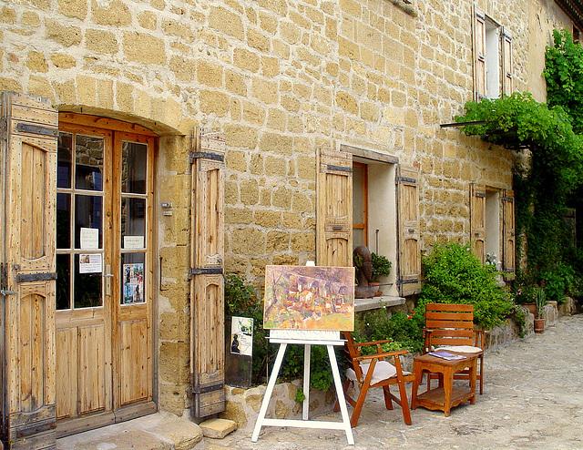 atelier de peintures et sculptures