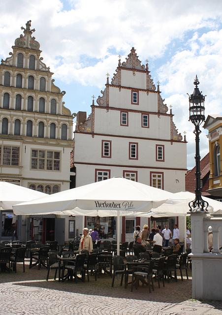 alte Wohnhäuser am Markt