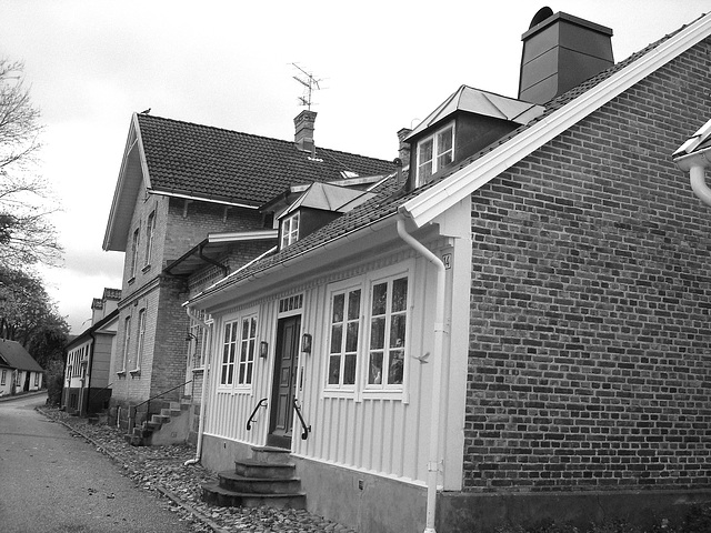 Maison / House No-14  - Båstad  / Suède - Sweden.  21-10-2008 -  N & B
