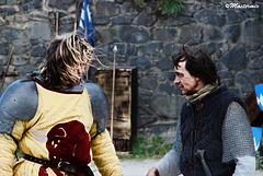 Duel dans la cour du chateau