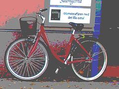 Vélo suédois de Novembre Salongema /  November Salongerna swedish bike -  Ängelholm  /  Suède - Sweden.   23 octobre 2008- Postérisé