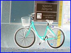 Vélo suédois de Novembre Salongema /  November Salongerna swedish bike -  Ängelholm  /  Suède - Sweden.   23 octobre 2008- Effet de négatif
