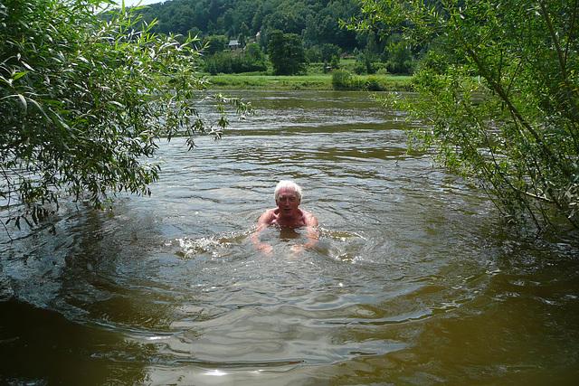 Meine Badestelle in der Elbe