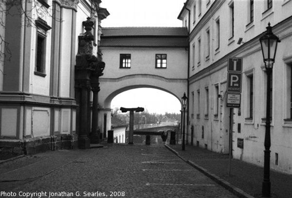 Old Pedestrian Bridge, B&W Version, Litomerice, Bohemia (CZ), 2008
