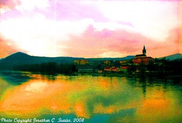 River Labe, Super Saturated Version, Litomerice, Bohemia (CZ), 2008