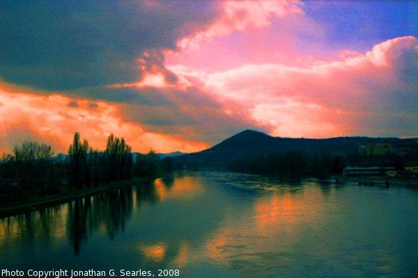 River Labe, Picture 4, High Saturation Version, Litomerice, Bohemia (CZ), 2008