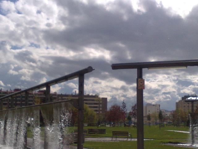 Pamplona: fuente en parque de Yamaguchi.