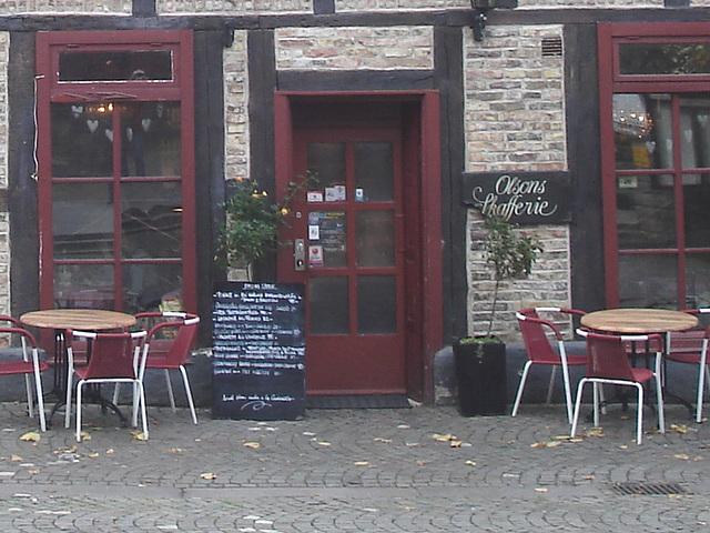 Olsons cafe -  Helsingborg / Suède - Sweden.   Recadrage / Close-up.   22 octobre 2008