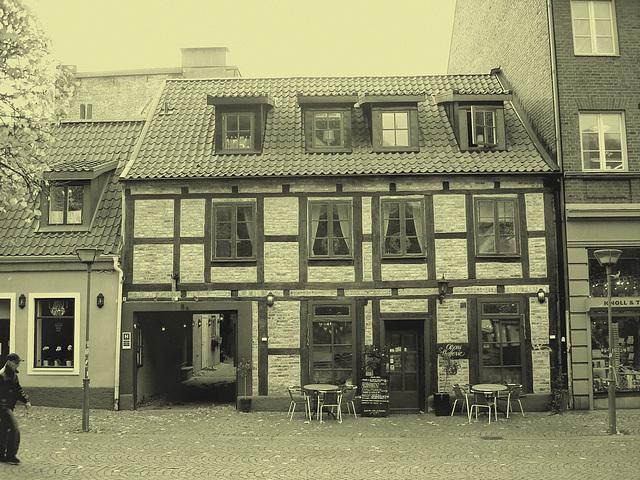 Olsons cafe -  Helsingborg / Suède - Sweden.   22 octobre 2008  - Vintage /  Photo ancienne