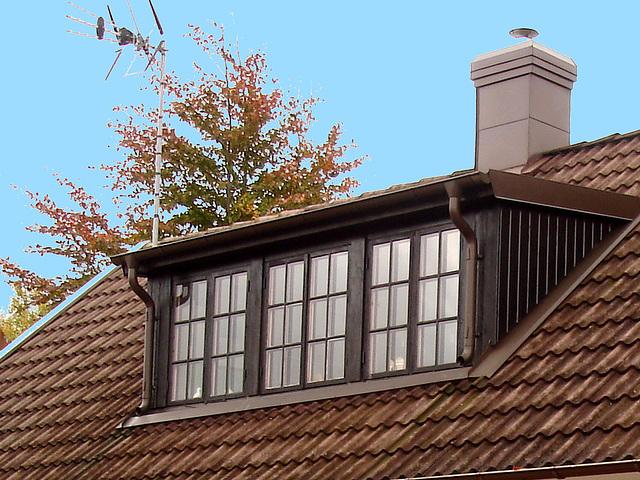 Maison /  House  No-50.   Båstad -  Suède  /  Sweden.  21-10-2008 - Ciel bleu ajouté