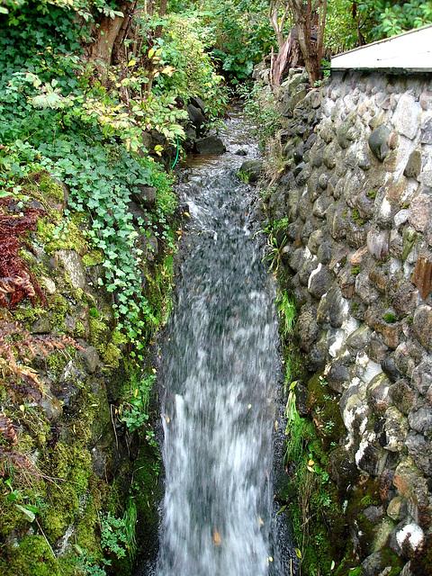 Maison /  House  No-50.   Båstad -  Suède  /  Sweden.  21-10-2008  - Petite cascade - small waterfall
